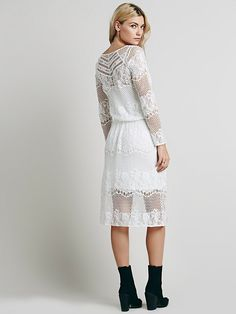 Free people lace dress white.