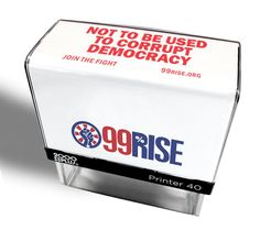 99 Rise Partner Stamp - Not To Be Used To Corrupt Democracy