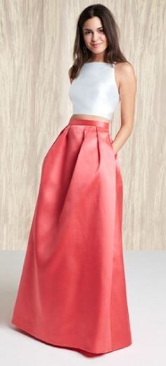 beautiful two-piece coral ball gown http://rstyle.me/n/w5eevr9te