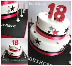 Instead of it being an birthday cake, I wanna make this for my next dance banquet. It would be perfect :) 18th Birthday Cake For Guys, 18th Birthday Party, Fondant Cakes, Cupcake Cakes, My Dream Cake, Cake Designs For Kids, 18th Cake, Bithday Cake, 4th Of July Cake