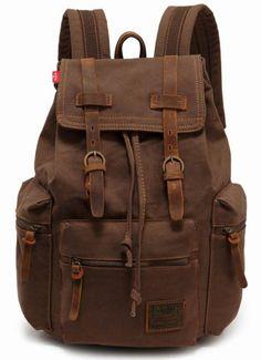 Veevan hot camping canvas backpack computer sporting sling backpack weekend bag