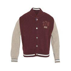 Buy Barbour Boys' Varsity Jacket, Merlot Online at johnlewis.com