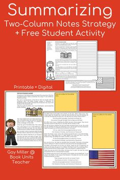 Check out these ideas for teaching summarizing including free printables. Great for upper elementary and middle school students. Context Clues, Story Elements, Student Teaching, Reading Skills, Upper Elementary, Reading Comprehension, Middle School, Literacy, The Unit