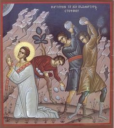 Icon for the Feast of St Stephen