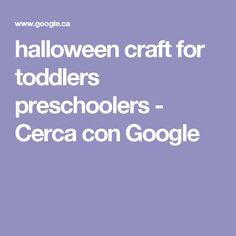 halloween craft for toddlers preschoolers - Cerca con Google