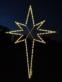 Elegant Big Outdoor Star Christmas Ornaments | Artificial Christmas   Outdoor  Christmas Lights   Star Of Bethlehem