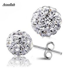 megko Fahiosn Shambhala Crystal Earrings Double Sided Beads Balls Earring Stud for womens