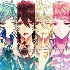 Ensembles stars Kanata and Rei and Wataru and Shu