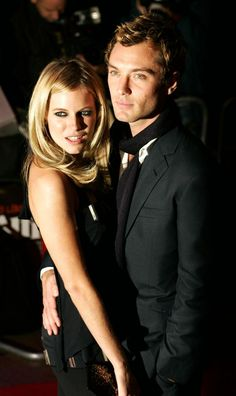 Jude Law engaged his co star Sienna Miller from Alfie, but the two hit a major roadblock as Jude Law was caught with the nanny Daisy Wright by one of his children and had to publically confess. Despite trying they couldn't work out this relationship and ended it in 2006.    Click On Sienna Miller & Jude Law Hot Romance For More Information