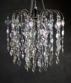 Waterfall Chandelier, Crystal with Light