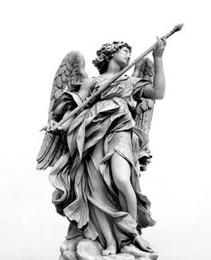 Angel with Spear of Destiny by CPJPhoto