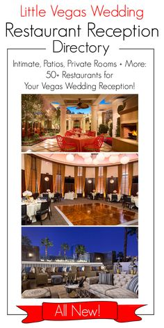 A directory with more than 50 restaurants for your wedding reception in Las Vegas