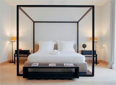 Chic four-poster bed.