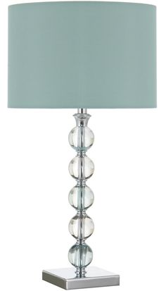Table lamp with duck egg blue shade. £59.99 http://www.worldstores.co.uk/p/Aimbry_Verona_Large_Acrylic_Table_Lamp_with_Duck_Egg_Shade.htm