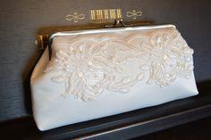Brauttaschen - Clutch, Brauttasche IVORY - ein Designerstück von Nattallia bei DaWanda