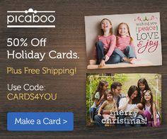 Picaboo: BOGO Custom 2014 Calendar, BOGO Photo Book Deal, or 50% off Holiday Cards!