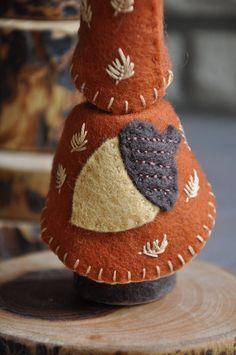 Wooden Acorn Gnome A Waldorf and Montessori by HoneyBeeToyAndCraft