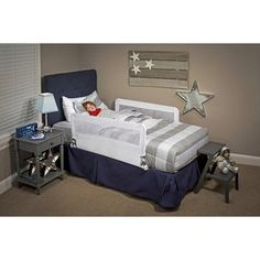 Regalo Hide Away Double Sided Safety Bed Rail Includes Two Rails Long And Tall White