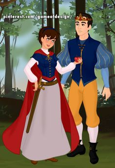DISNEY GENDER SWAP - Snow White & The Prince = Winter White & The Princess. [Made using Azalea's FairtyTale Scene Maker]