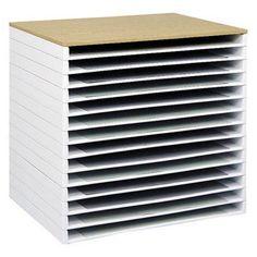art supplies storage: flat storage for canvas