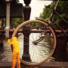 Amsterdam is best explored by bike, don't you think? #theartofthebrick #hugmaninholland