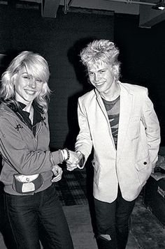 Debbie Harry and Billy Idol