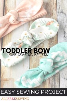 Learn how to make a precious accessory for your little one with this Toddler Bow Headband Sewing Pattern. You don't have to be an expert seamstress for this undertaking, because it's about as simple and easy as they come.
