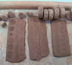 Clay rollers and stamps