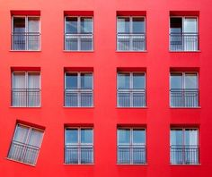 View top-quality stock photos of Red Color Building And Windows. Find premium, high-resolution stock photography at Getty Images. Architecture Design, Amazing Architecture, Windows Architecture, Building Architecture, German Architecture, Creative Architecture, You Had One Job, Windows And Doors, Red Windows