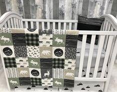 Baby Girl Nursery Set Baby/Toddler Blanket Moose Under the Stars Bear Baby Bedding Crib Bedding Baby Set, Baby Nursery Sets, Baby Boy Nurseries, Baby Room, Nursery Ideas, Room Ideas, Camo Baby Bedding, Girl Nursery Bedding, Teal Nursery