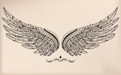 Vintage vector wing - Sister and Brother Back Tattoos, Future Tattoos, Body Art Tattoos, Small Tattoos, Chest Piece Tattoos, Wings Drawing, Muster Tattoos, Wing Tattoo Designs, Eagle Wings