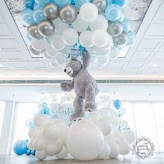 SEBASTIAN 's Christening & First Birthday Styling, Ghost Chairs & All props by Balloons Graphics Printing Cake stands Cake, cupcakes & cakepops Macaron's Towers by Cookies Captured by A huge thank you to for your help Design inspired by Teddy Bear Baby Shower, Baby Shower Niño, Baby Shower Balloons, Baby Shower Games, Baby Shower Parties, Baby Showers, Baby Event, Boy First Birthday, Baby Shower Printables