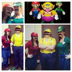 Mario Bros. Costume 2013 ~ NAILED IT!!!! (Mario~ Wario~ Luigi)