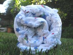 Summer Sale Nautical Print Baby Rag Quilt  by JJandCompany on Etsy, $30.00