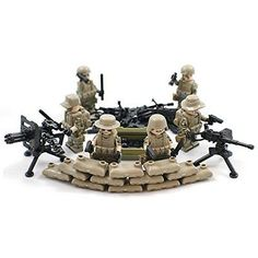 Custom Lego Compatible Military Army Minifigures And Weapon Pack