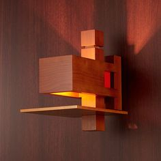 Wooden Lanterns, Wooden Lamp, Cool Lighting, Lighting Design, Arts And Crafts Furniture, Indirect Lighting, Mission Furniture, Lamp Design, Construction