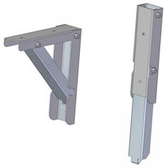 Here you are presented with a plan according to which you can make a very sturdy folding shelf bracket that can withstand high loads.