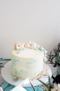 Beautiful under the sea cake from a Majestic Under the Sea Birthday Party on Kara's Party Ideas | KarasPartyIdeas.com (32)