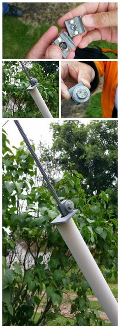 Could you spot this geocache?  Very tricky and creative hide!  Strong magnets hold the fake clasp in place, concealing the nano container.  (pics from Twitter stitched together & pinned to Cool & Creative Micro Geocaches - https://www.pinterest.com/islandbuttons/cool-creative-micro-geocaches/) #IBGCp