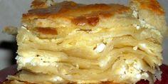 s kvascem Serbian food: Gibanica (FAVORITE!) mama still makes this sometimesSerbian food: Gibanica (FAVORITE! Bosnian Recipes, Croatian Recipes, Great Recipes, Favorite Recipes, Macedonian Food, Kolaci I Torte, Torte Recepti, Cheese Pies, Cheese Bread