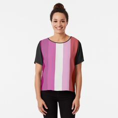 Passionate Pink Stripes by TheArtism Neon Purple, Purple Pattern, Pink Stripes, Yin Yang, Chiffon Tops, Classic T Shirts, Athletic Tank Tops, Fitness Models