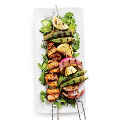 Grilled Chicken Vegatable Kabobs - Grab the skewers, fire up the grill, and enjoy these easy and delicious kabobs, great for any night of the week.