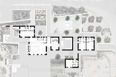 react architects steps 'the gaze' house into idyllic greek island landscape Architecture Plan, Landscape Architecture, Landscape Design, Greece Design, Roof Plan, Architectural Elements, Design Development, House Plans, Facade