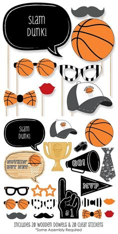 Basketball Celebration Treats and DIY Decorations - landeelu.com.  Look into more by clicking the photo