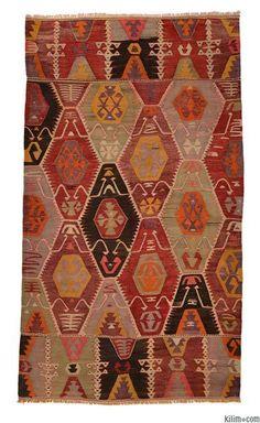 Vintage Barak Kilim Rug around 60 years old.
