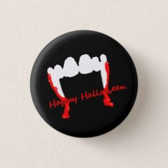 #Happy Halloween Vampires! Pinback Button - #Halloween #happyhalloween #festival #party #holiday