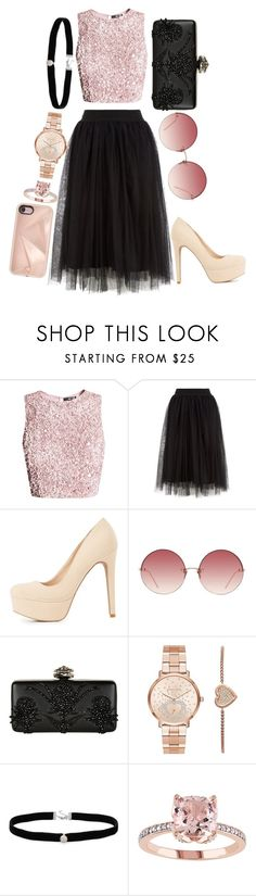 """""""Cute Outfit"""" by psycho-alien-deer05 ❤ liked on Polyvore featuring Charlotte Russe, Linda Farrow, Alexander McQueen, Michael Kors, Amanda Rose Collection and Rebecca Minkoff"""