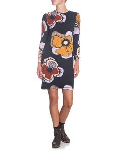 Still Life Mini Dress with khaki boots at Precious Peg Flower Patch, Flower Dresses, Winter Boots, Still Life, Dresses For Work, Mini, Hot, Casual, Design