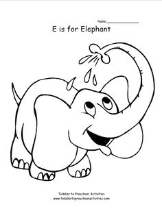 36 best Elephant Coloring Pages images on Pinterest | Baby elephant ...