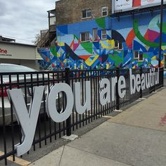 You Are Beautiful mural in Andersonville, Chicago Moving To Chicago, Chicago Travel, Chicago Trip, Beautiful Streets, You Are Beautiful, Chicago Quotes, Andersonville Chicago, Summer Playlist, Chicago Events